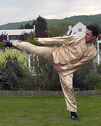 Sifu Leo Happy Bird Kung Fu Kick